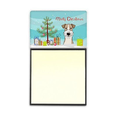 Carolines Treasures  Christmas Tree & Wire Haired Fox Terrier Sticky Note Holder (CRLT89787)