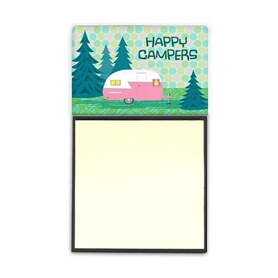 Carolines Treasures  Happy Campers Glamping Trailer Sticky Note Holder (CRLT92523)