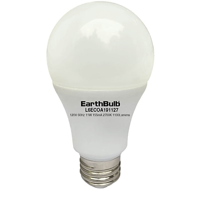 EarthBulb® A19 11.5W 1100LM 2700K Eco 6 Pack