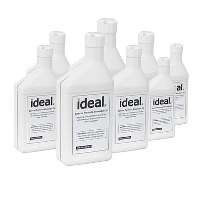 IDEAL Special Lubricating Oil for Shredders 8 Bottles, 1 Pint Each (IDEACCED21/8H)