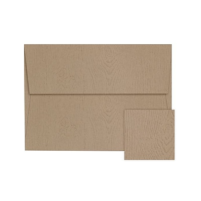 LUX A2 Invitation Envelopes (A2) - Oak Woodgrain - Pack of 500 (2445199)