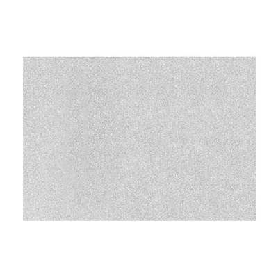 LUX A7 Flat Card  (A7)  - Silver Sparkle - Pack of 50 (2445228)
