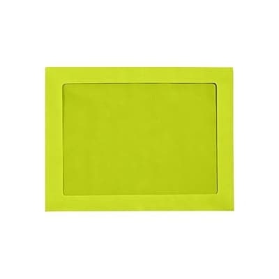 LUX 9 x 12 Full Face Window Envelopes (9 x 12) - Wasabi - Pack of 50 (2444739)