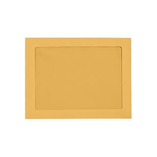 LUX 9 x 12 Full Face Window Envelopes (9 x 12) - Brown Kraft - Pack of 500 (2444756)