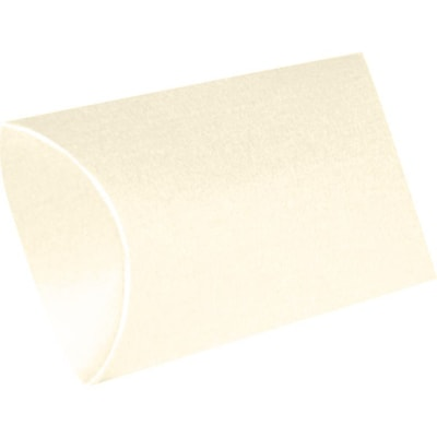 LUX Medium Pillow Boxes  (2 1/2 x 7/8 x 4)  - Champagne Metallic - Pack of 1000 (2444914)