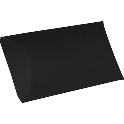 LUX Small Pillow Boxes (2 x 3/4 x 3) - Midnight Black - Pack of 250 (2445052)