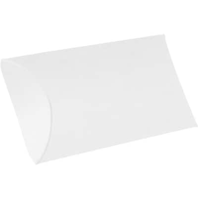 LUX Medium Pillow Boxes  (2 1/2 x 7/8 x 4)  - White Linen - Pack of 1000 (2445059)