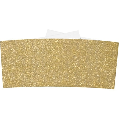 LUX 6 1/4 Belly Bands 500/Box) 500/Box, Gold Sparkle (614BB-MS02-500)