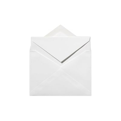 LUX LEE Bar Inner Envelopes (No Glue) 500/Box, Brilliant White - 100% Cotton (LEEINNER-SBW250)