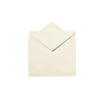 LUX Windsor Outer Envelopes (6 1/4 x 8 1/2) 50/Box, Natural White - 100% Cotton (WINOUTER-SN-50)