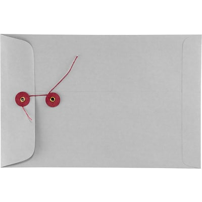 LUX 6 x 9 Button & String Envelopes 250/Box) 250/Box, 28lb. Gray Kraft (69BS-28GK-250)