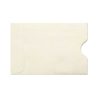 LUX Credit Card Sleeves (2 3/8 x 3 1/2) 1000/Box, Natural Linen (1801-NLI-1000)