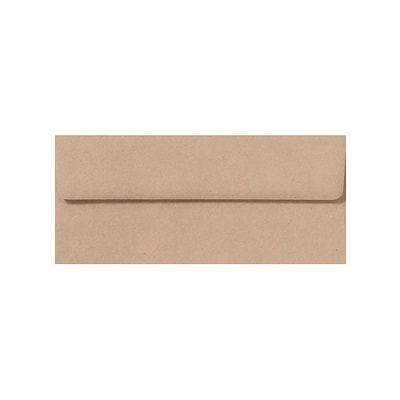 LUX #10 Square Flap Envelopes (#10) - Oatmeal - Pack of 50 (2444874)
