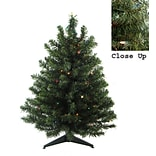 Darice 2 Green Artificial Christmas Tree with 50 LED Multi-Color Lights and Stand