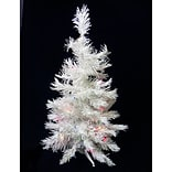 Darice 3 Snow White Artificial Christmas Tree with 50 Multi LED Lights