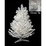 Darice 16 Snow White Artificial Christmas Tree with 20 LED Clear Lights