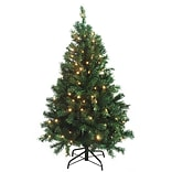 Northlight 4.5 Green Cedar Pine Artificial Christmas Tree with Clear Light