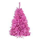 Northlight 4.5 Orchid Pink Cedar Pine Artificial Christmas Tree with Pink Light