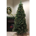 Northlight 7.5 Taittinger Long Needle Pine Artificial Christmas Tree with Clear Light