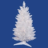 Vickerman 2.5 White Sparkle Spruce Pencil Artificial Christmas Tree with LED Clear Light