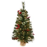 Vickerman 2.5 Siegal Berry Pine Artificial Christmas Tree with Clear Lights