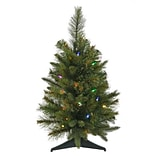 Vickerman 2 Pine Cashmere Christmas Tree with LED Multi Light