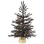 Vickerman 2 Black Pistol Artificial Christmas Tree with Orange LED Lights