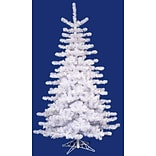 Vickerman 9Crystal White Artificial Christmas Tree with Clear Lights