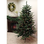 Vickerman 9 Grantwood Pine Artificial Christmas Tree with Multi Lights