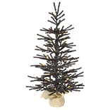Vickerman 2.5 Black Pistol Artificial Halloween Christmas Tree with LED Orange Lights
