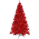Northlight 7 Sparkling Artificial Christmas Tree with 500 Red Light
