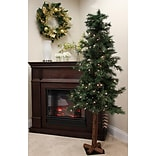 Tori Home Woodland 5 Alpine Artificial Christmas Tree 150 Clear Lights