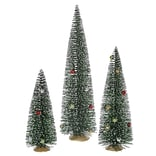Vickerman Whimsical Green Mini Village Artificial Christmas Tree