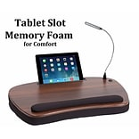 Sofia + Sam Oversized Lapdesk With USB Light and Tablet Slot Wood Top (5003)