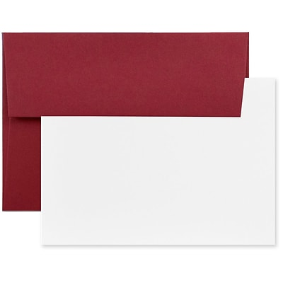 JAM Paper® Blank Greeting Cards Set, A2 Size, 4.375 x 5.75, Dark Red, 25/Pack (304624610)