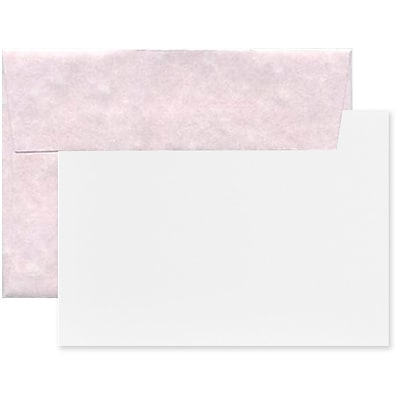 JAM Paper® Recycled Parchment Stationery Set, 25 Cards and 25 A6 Envelopes, Orchard, set of 25 (304624563)