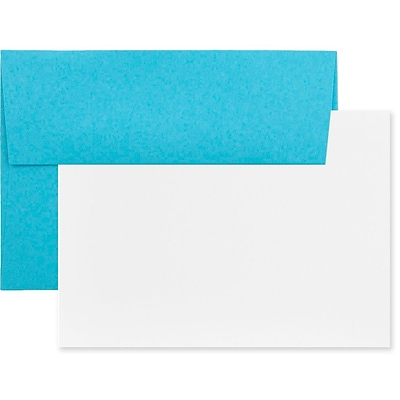 JAM Paper® Blank Greeting Cards Set, A6 Size, 4.75 x 6.5, Blue Recycled, 25/Pack (304624503)