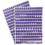 JAM Paper® Self Adhesive Alphabet Letters Stickers, Purple, 372/pack (2132817355)