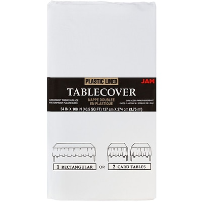 JAM Paper® Paper Table Covers, White Table Cloths, Sold Individually (291323337)