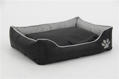 Northlight Sleeper Lounge Pet Bed; Gray/Black