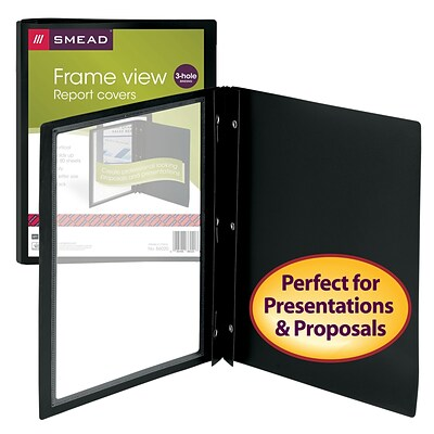 Smead® Frame View Report Covers with Fastener Closure, 5/Pack