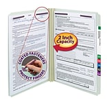 Smead Pressboard Straight Cut File Folders, 2-Fasteners w/SafeSHIELD, 2 Expansion, Legal, Gray/Gree