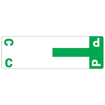 Smead® AlphaZ NCC Color-Coded Name Labels, C&P, Label Sheet, Dark Green, 100/Pk (67154)