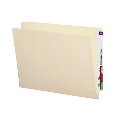 Smead® Straight-Cut, 14 pt. Manila End-Tab Folders, Letter Size, Two-Ply Tab