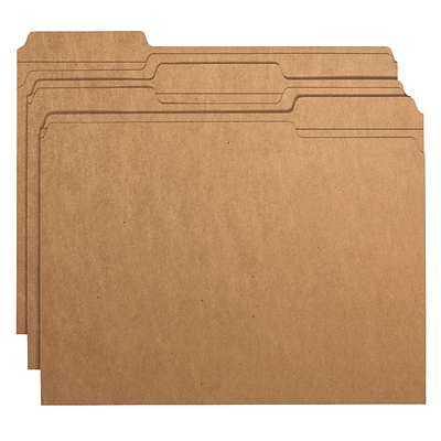 Smead® 3-Tab File Folders, Letter, Kraft, 50/Bx (10830)