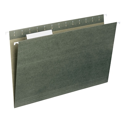 Smead® Standard Green Hanging File Folders, 1/3-Cut, Legal Size