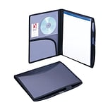 Smead® Poly Pro Series II Deluxe Padfolios, Black/Blue