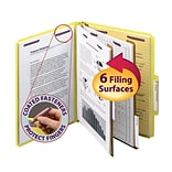 Yellow Pressboard Letter Classification Folders