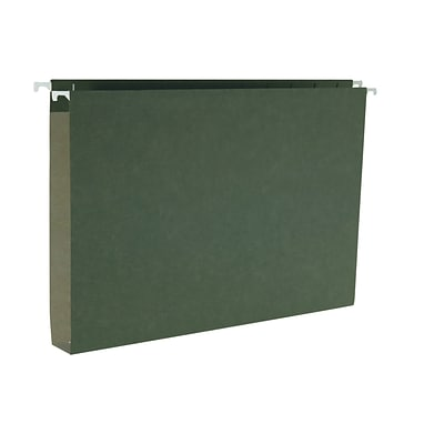 Smead® Hanging Box Bottom File Folders, Legal, 1 Expansion, Standard Green, 25/Bx (64339)