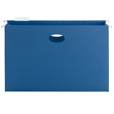 Smead Hanging File Pocket with Tab, 3 Expansion, 1/5-Cut Adjustable Tab, Legal Size, Sky Blue, 25/Box (64370)
